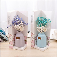 Lọ tinh dầu khuếch tán hương nước hoa thơm phòng kèm hoa khô trang trí - phụ kiện làm thơm phòng mã TD205 ( giao màu ngẫu nhiên )