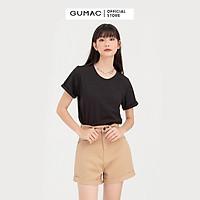 Áo thun nữ GUMAC ATB788 cổ tròn tay lật