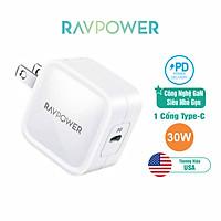 Củ Sạc PD 30W GaN Tech Cho iPhone 12 RAVPower RP-PC120 - Hàng Chính Hãng