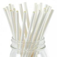 Túi ống hút giấy (500 ống) size 6mm màu trắng
