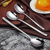 Thìa inox 304 Jody Nhật Bản mạ Tintan, Vàng sang trọng cao cấp cho bàn ăn Bảo hành phai màu