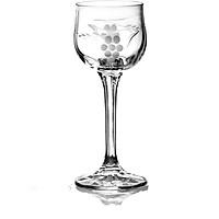 Bộ 6 ly rượu mạnh pha lê Tiệp khắc mài nho 060 ml