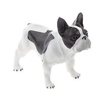 Nhựa Tiếng Anh Bulldog Chó Động Vật Hình Mẫu Colletcion Đồ Chơi Trẻ Em Quà Tặng