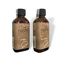 Cặp dầu gội xả Nashi Argan Classic Shampoo and Conditioner siêu mượt cho tóc khô hư tổn Ý 200ml