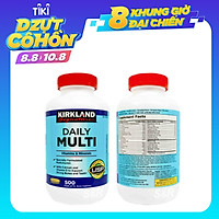 Viên uống Kirkland Signature Multivitamin 500v, cung cấp vitamin tổng hợp cho người dưới 50 tuổi, bổ sung khoáng chất cho cả nam va nữ, tăng cường hệ miễn dịch,  giảm căng thẳng mệt mỏi