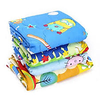 Chăn/ Mền 100% Cotton Cao Cấp Nhiều Hình Thú Cho Bé Trai & Gái : 60cm x 1m2 - Giao Màu Ngẫu Nhiên