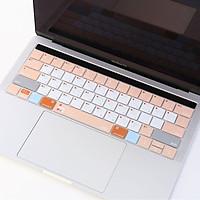 Miếng lót, Phủ Bàn Phím Macbook JRC Shortcut - Mix Orange - Chất liệu TPU cao cấp, Chống nước, bụi bẩn - Hàng Chính Hãng