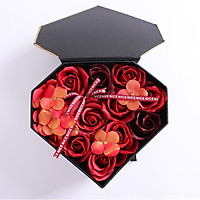 Hộp hoa sáp trái tim có ngăn đựng quà