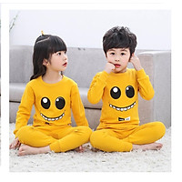 Sét bộ quần áo thu đông cho bé trai và bé gái in hình mặt cười ngộ nghĩnh dễ thương