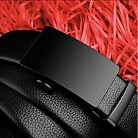 Thắt lưng nam dây da cao cấp khóa tự động - Mặt thiết kế lịch lãm TKV08