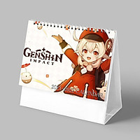 (Lịch 2021-2022) Lịch in KLEE game GENSHIN IMPACT anime ảnh đẹp lịch để bàn