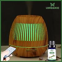 Combo máy khuếch tán/ máy xông tinh dầu Lorganic hình tổ chim FX2045 + tinh dầu sả chanh Lorganic (10ml) LGN0360/ Thích hợp xông phòng diện tích 15-40m2.