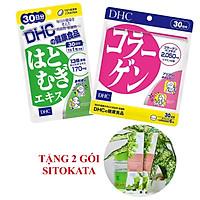 Combo Viên Uống Trắng Da - Collagen DHC Nhật Bản 30 Ngày (Tặng Kèm 2 Gói Bột Cần Tây Sitokata)