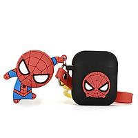 Bộ 5 phụ kiện bảo vệ airpods (vỏ airpods - airpods case ) phong cách Spider Man – Người Nhện