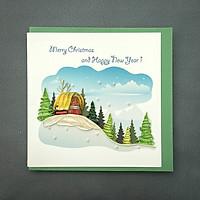Thiệp Giấy Xoắn Giáng Sinh 15x15 cm - NOEL13GIAAN