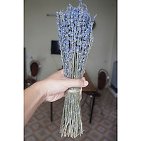 Bó hoa khô lavender tím đậm, cành dài, bó 70g