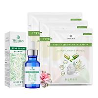 Bộ ngừa mụn da mặt Truesky Premium M01 gồm 1 serum ngừa mụn tràm trà 20ml + 3 miếng mặt nạ dưỡng da Truesky