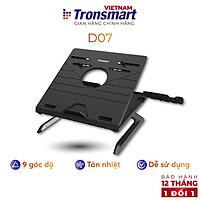 Giá đỡ laptop gấp gọn Tronsmart D07 Điều chỉnh độ cao Kèm giá đỡ điện thoại - Hàng chính hãng
