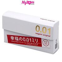 Bao Cao Su Sagami Original Siêu Mỏng 0,01 mm Nhật Bản, Hộp 5 chiếc