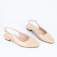 Giày cao gót thời trang mũi vuông phối dây hở gót cao 2cm Cillie 1181