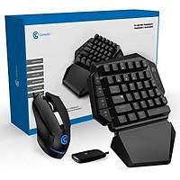 Bàn phím cơ một tay kiêm bộ chuyển đổi GameSir VX kèm chuột không dây Gamesir GM180 chơi PUBG cùng game FPS cho PS4, Xbox one và Nintendo switch -chính hãng