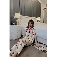 Đồ bộ pijama nữ cao cấp vải latin thoáng mát free size dưới 55kg