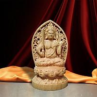 Tượng Gỗ Bất Động Minh Vương - Trang trí xe ô tô/ bàn làm việc/ Phật Bản mệnh tuổi Dậu