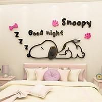 Trang Trí Dán Tường Snoopy Tranh Mica 3D
