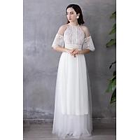 Áo dài cưới trắng Luna