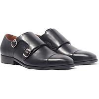 Giày nam khóa cài, phong cách giày tây công sở Double Monk Strap H1DS3M0 da bò Ý, chính hãng Banuli