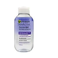 Dầu tẩy trang mắt môi Garnier Express 2 in 1 Eye Make-up Remover 125ml