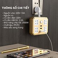 Ổ Cắm Điện Đa Năng Thông Minh Chống Giật 4 ổ cắm và 3 cổng USB Tiện Dụng Hàng Chính Hãng