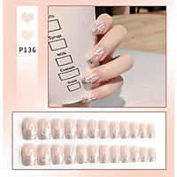 Bộ 24 móng tay giả nail thơi trang như hình (P136)