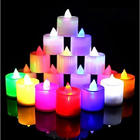 Đèn Led nhỏ nhiều màu - đèn nến điện tử trang trí không gian lãng mạn hoặc cho vào đèn lồng