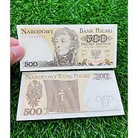 Tiền Ba Lan 500 Zotych xưa 1988, đất nước Đông Âu, mới 100% UNC, tặng túi nilon bảo quản The Merrick Mint