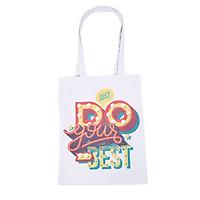 Túi Vải Canvas Cá Chép - Just Do Your Best (30 x 38 cm)