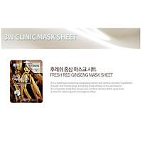 Bộ 10 gói mặt nạ dưỡng da 3W Clinic Fresh Red Ginseng Mask Sheet 23ml X 10