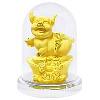 Kim Giáp Hợi phủ vàng 24K quà tặng mỹ nghệ KBP DOJI DJDE0519KG12