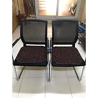 Combo 2 Đệm lót ghế văn phòng hạt gỗ Trắc bóng hạt 12ly - Kích thước 45cm x45cm ( hình thật ) - Nệm , Chiếu mát xa ghế văn phòng mùa hè