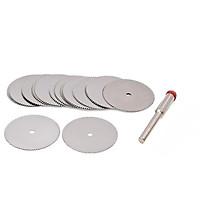 Bộ 10 đĩa cắt mini chân cán 3 ly dùng cho máy khoan mài khắc và máy mài khuôn - Lưỡi cưa mini