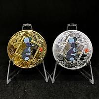 Cặp Đồng Xu Vàng Bạc Hình Con Chuột  Mừng Năm Canh Tý 2020 - Quà Tặng trang trí dịp tết - TMT Collection