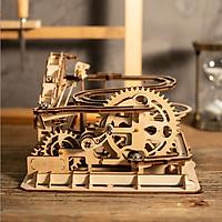 Đồ chơi Lắp ráp gỗ 3D Mô hình Cơ động học Magic Crush - Marble Run Waterwheel Coaster LG501