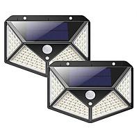 Combo 2 Đèn Led cảm biến chuyển động - năng lượng mặt trời Solar 100 Led 3 chế độ hoạt động