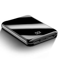 Pin sạc dự phòng 10.000 MAh Siêu nhỏ, Siêu mỏng, Led hiển thị dung lượng, 2 mặt cường lực