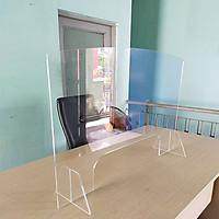 Tấm Chắn Giọt Bắn Virus, Vách Ngăn Mica (60x80cm) Ngừa Covid