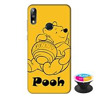 Ốp lưng điện thoại Asus Zenfone Max Pro M2 hình Gấu Pooh tặng kèm giá đỡ điện thoại iCase xinh xắn - Hàng chính hãng