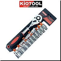 Bộ tuýp khẩu Kiotool 12 chi tiết sửa chữa xe máy mở bu lông đa năng