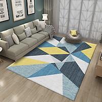 Thảm trải sàn trang trí nhung nỉ hình học phong cách hiện đại- Mẫu 5