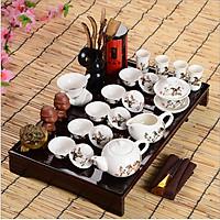 Bộ ấm trà 30 món họa tiết Ngựa mã đáo thành công- Nghệ thuật trà đạo