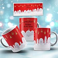 Cốc sứ uống trà cà phê cao cấp in hình giáng sinh an lành- Quà tặng Noel